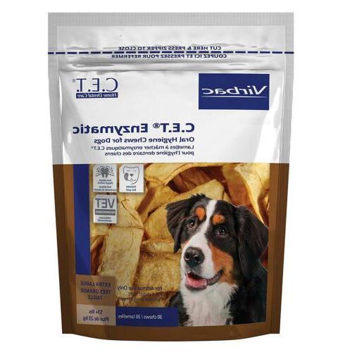 Virbac C.E.T. Oral Hygiene Chews, Dog, 30