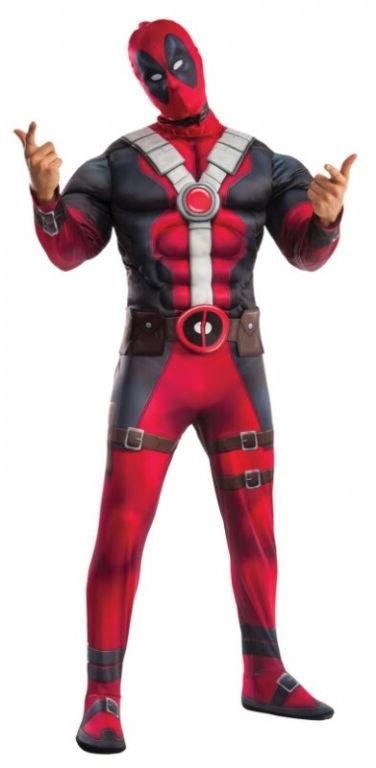 Deluxe Deadpool Adult Halloween Costume & Mask, Wade Wilson,