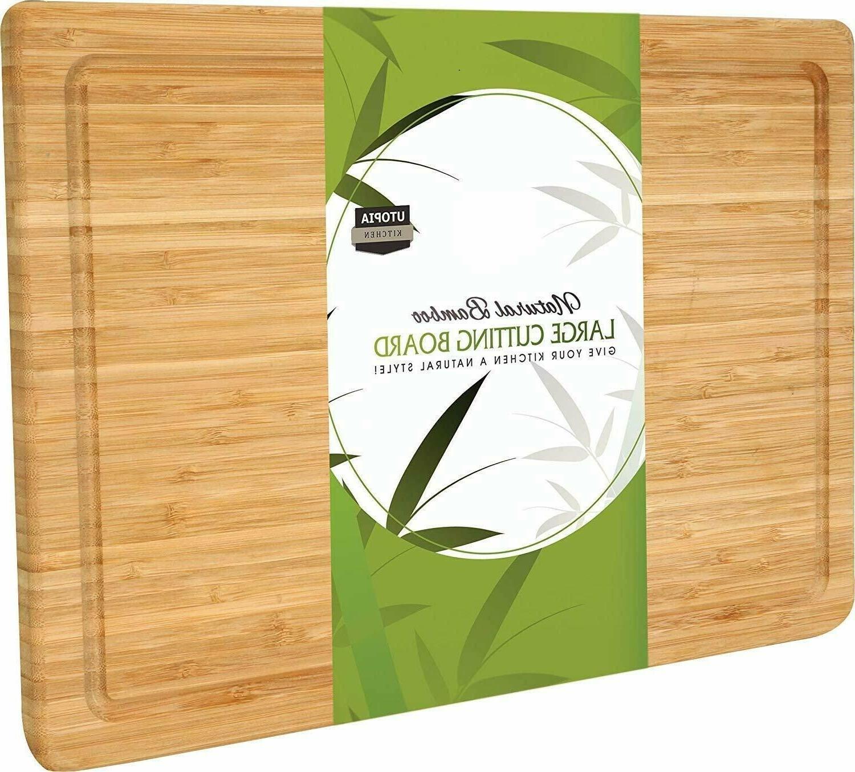 extra large bamboo cutting board 17 x