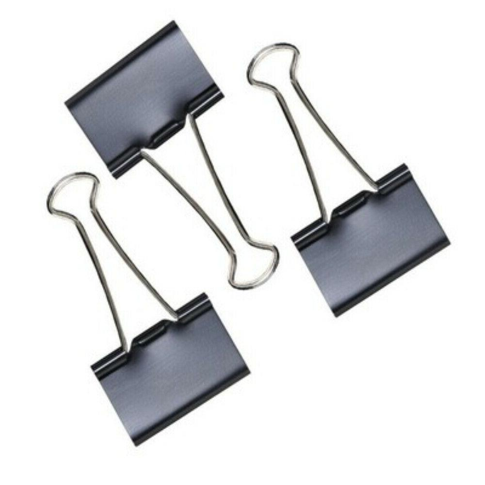 Extra Black Binder Clips for and School Use,12pcs/Box