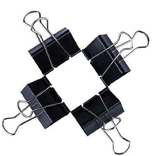 Extra Black Binder Clips School Use,12pcs/Box