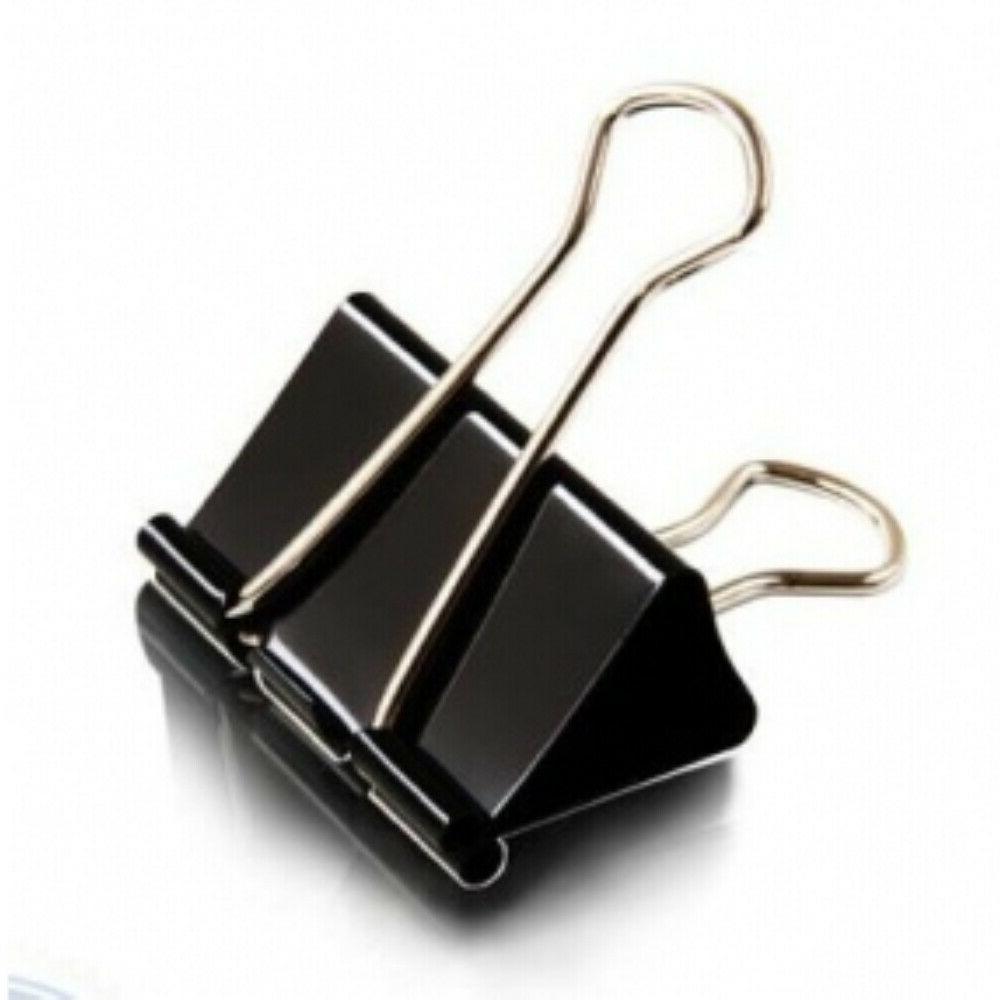 Extra Large Black Binder Clips School Use,12pcs/Box