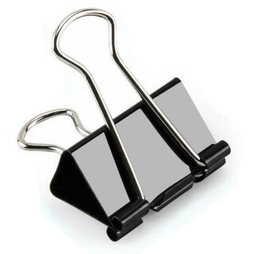 extra large black binder clips for office