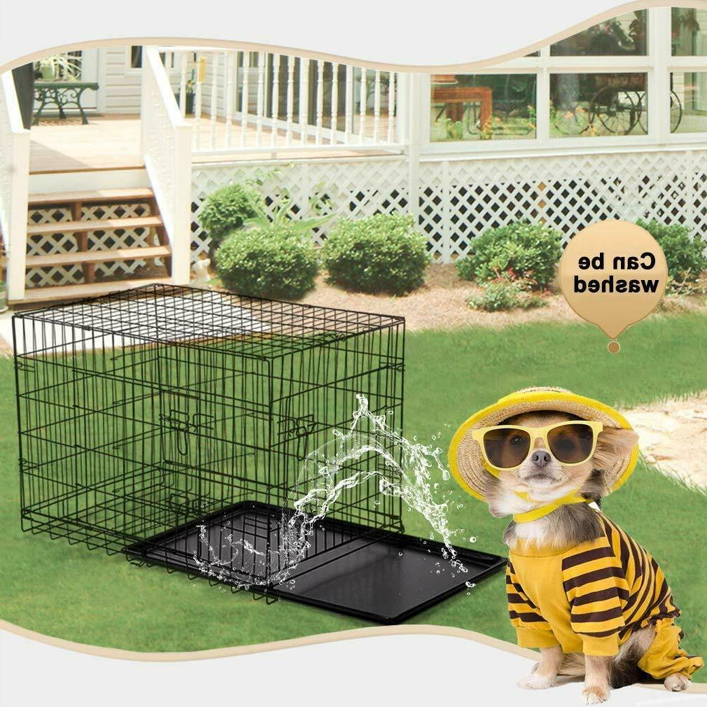 Extra Large 48 Kennel Cage 2 Metal Tray