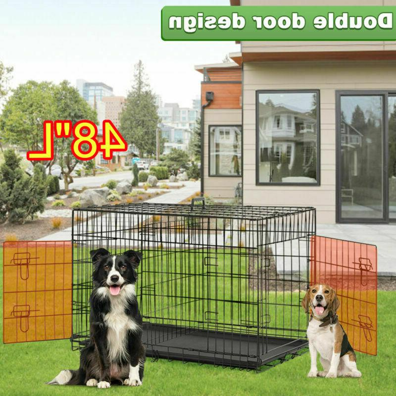 extra large dog crate 48 kennel folding
