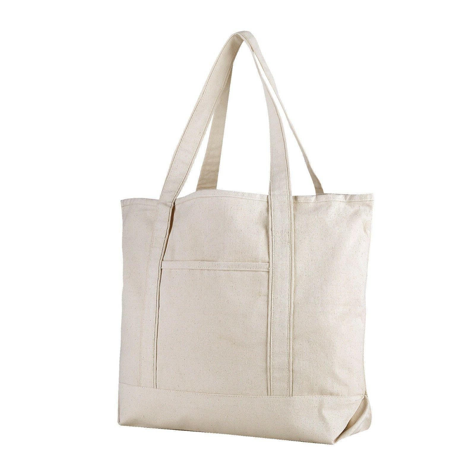 extra large heavy canvas boat tote bag