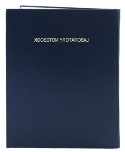 """BookFactory Extra Large Lab Notebook - 168 Pages .25"""" Grid F"""