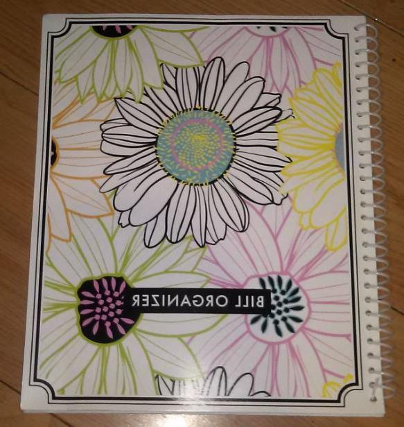 extra large monthly bill organizer spiral bound