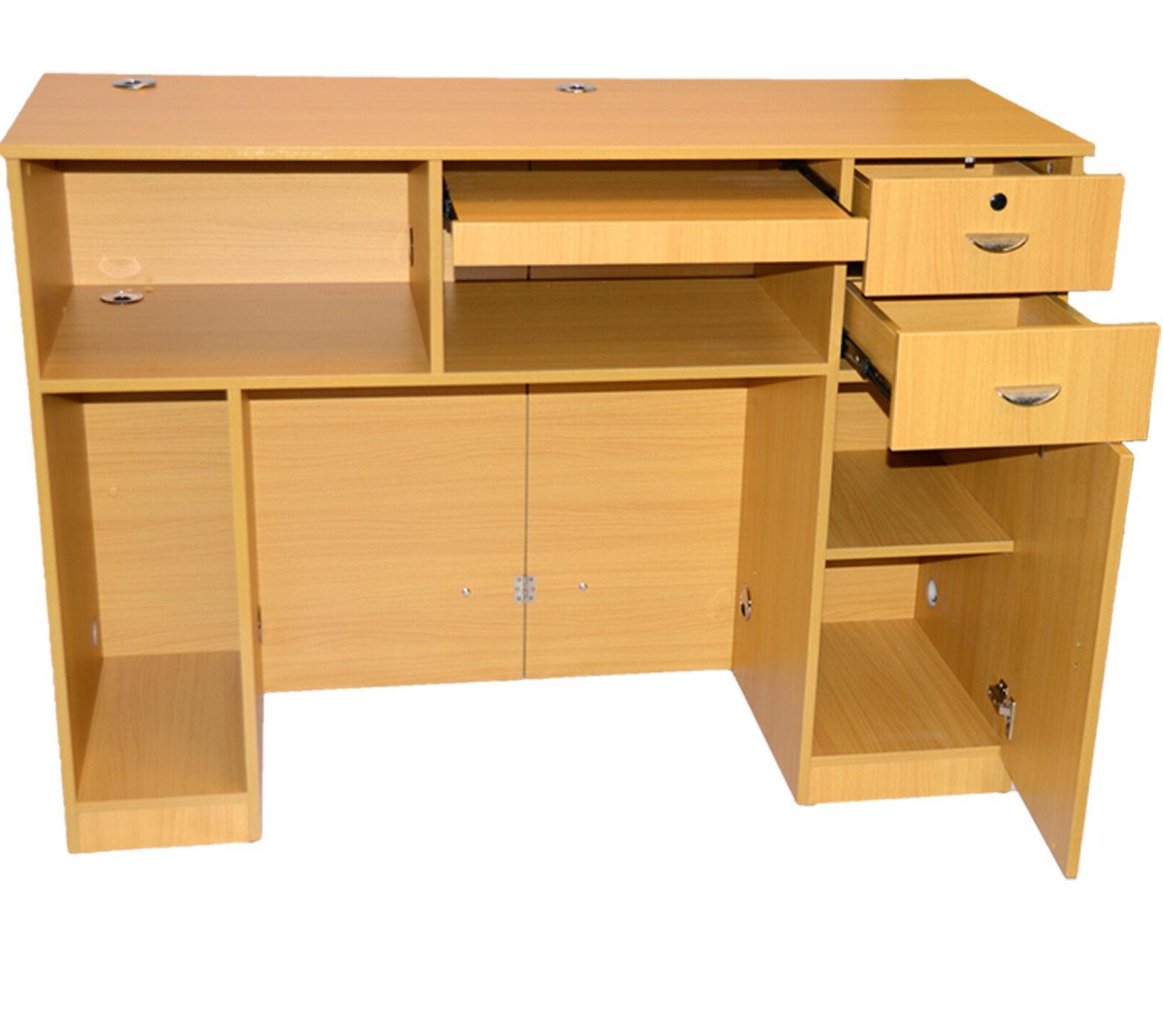 Extra Computer Desk Locking Drawer Salon
