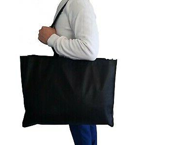 "20"" Extra Eco Friendly Grocery Shopping Tote Bag Bags Zipper"