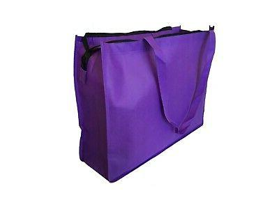 "20"" Extra Large Eco Grocery Tote Book Zipper"