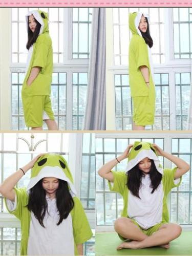 Game Frog Cosplay Kigurumi Short Sleeve Pajamas Sleepwear Unisex Jumpsuit