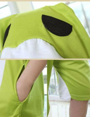 Game Frog Kigurumi Short Sleeve Sleepwear Unisex Jumpsuit