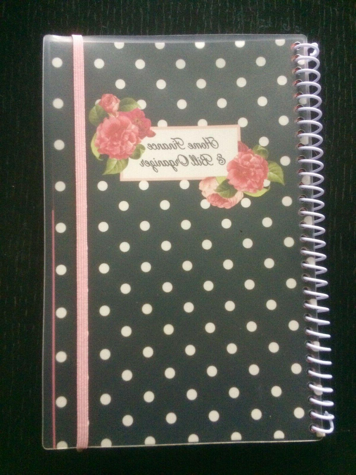 home finance and bill organizer with pockets