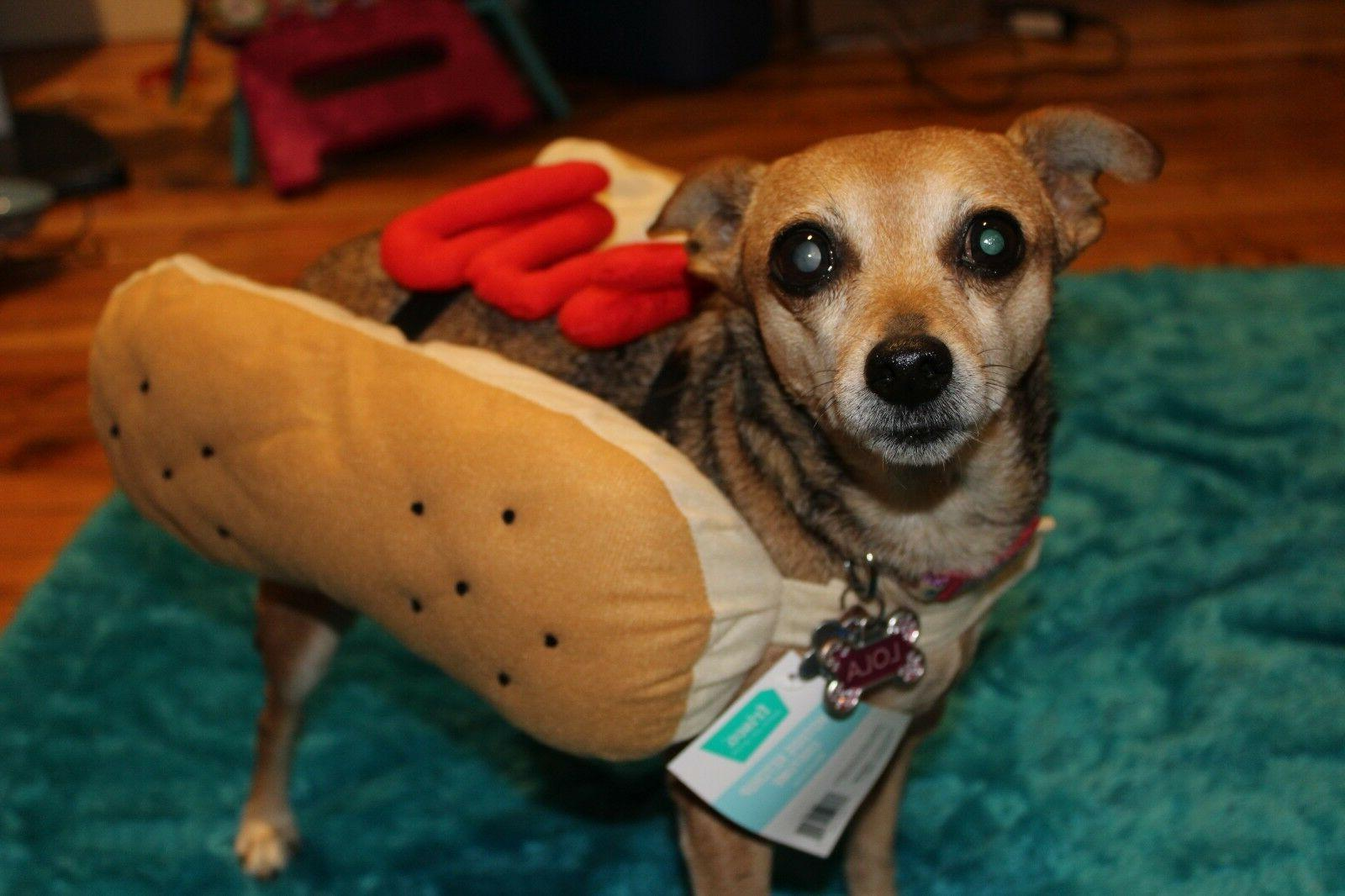 Hotdog Ketchup Costume for Dog or Sizes Medium, Large,