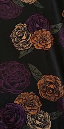 LuLaRoe Irma Tunic Shirt XL Rust Floral NWT