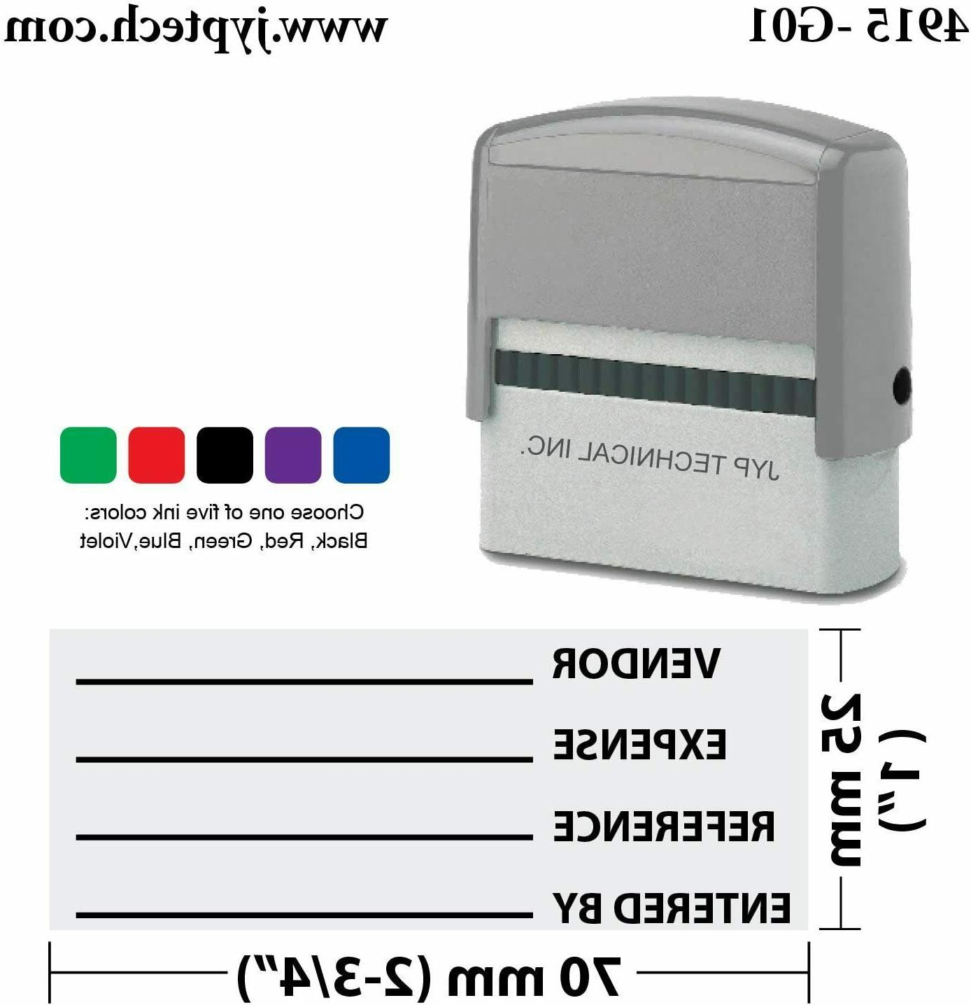 jyp pa2860 pre inked rubber stamp w