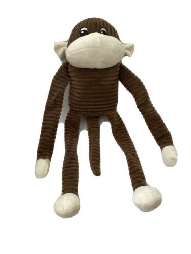 large spencer the crinkle monkey brown squeaky