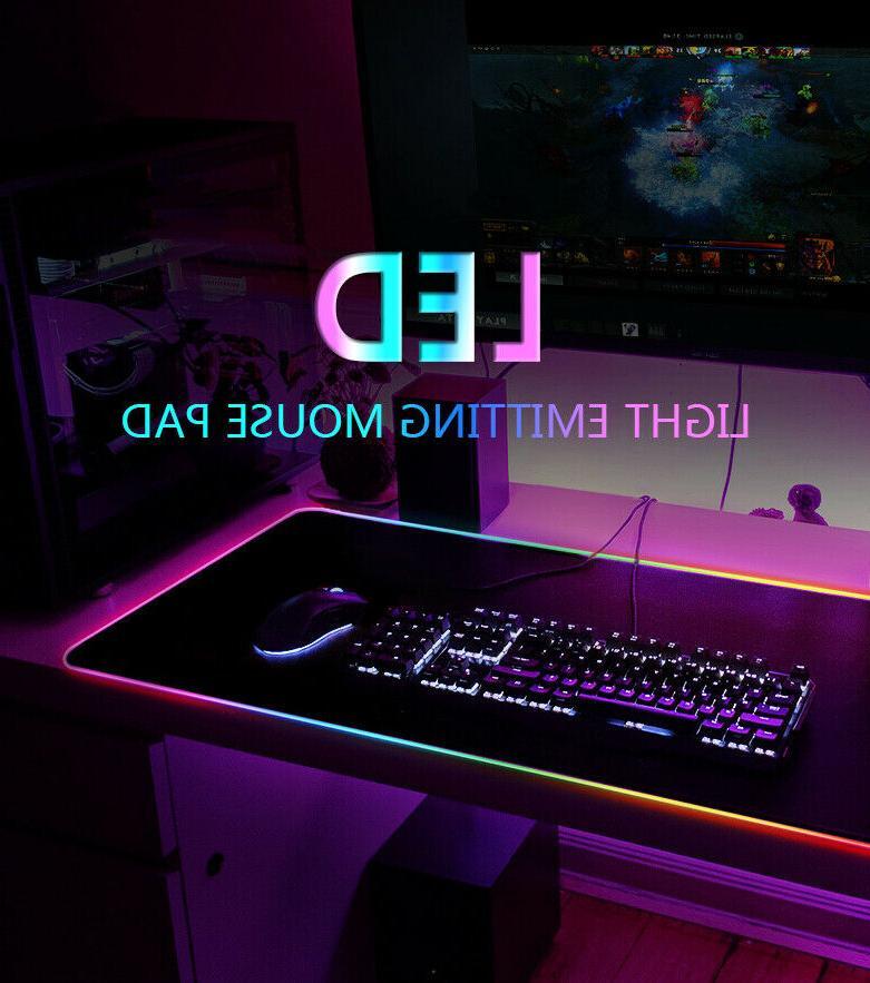 LED Large Gaming Mouse Pad 31.5X12''