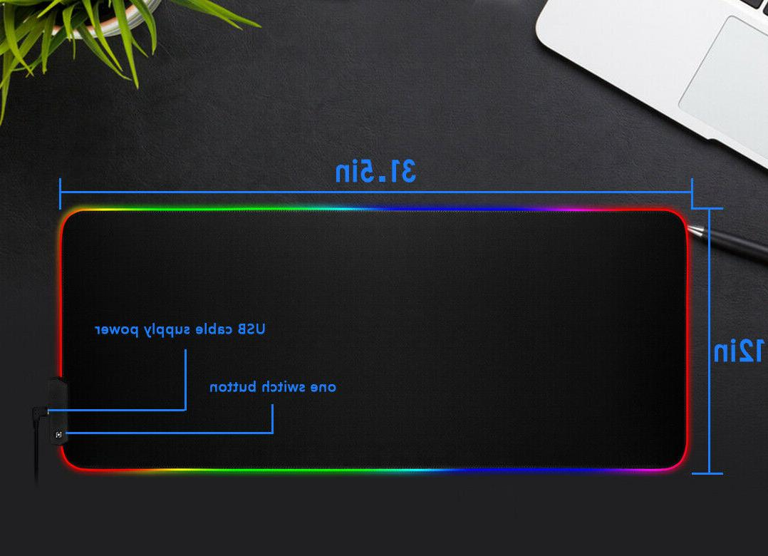 LED Extra Mouse Pad Glowing 10 Color 31.5X12''
