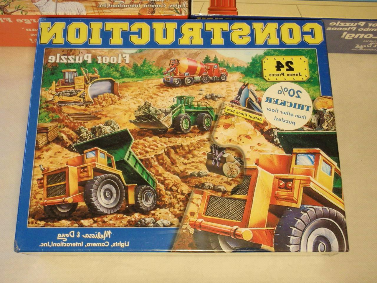 Lot Melissa & Doug Extra Large Puzzles: Barn, Truck