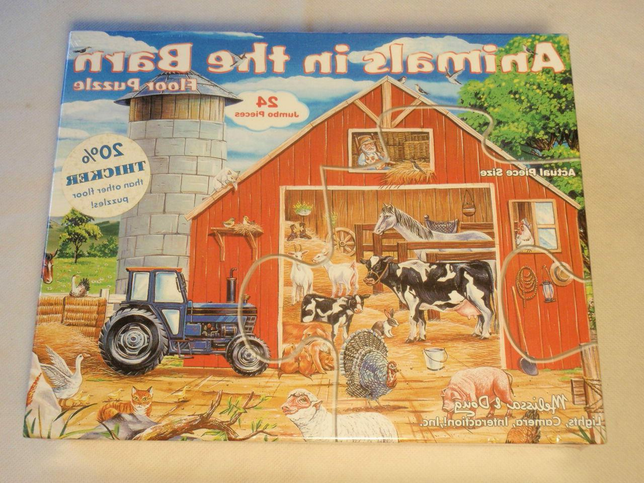 Lot & Doug Large Puzzles: Construction, Barn, Truck