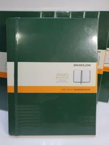 LOT OF Moleskine Notebook, Ruled, Myrtle Green, Cover