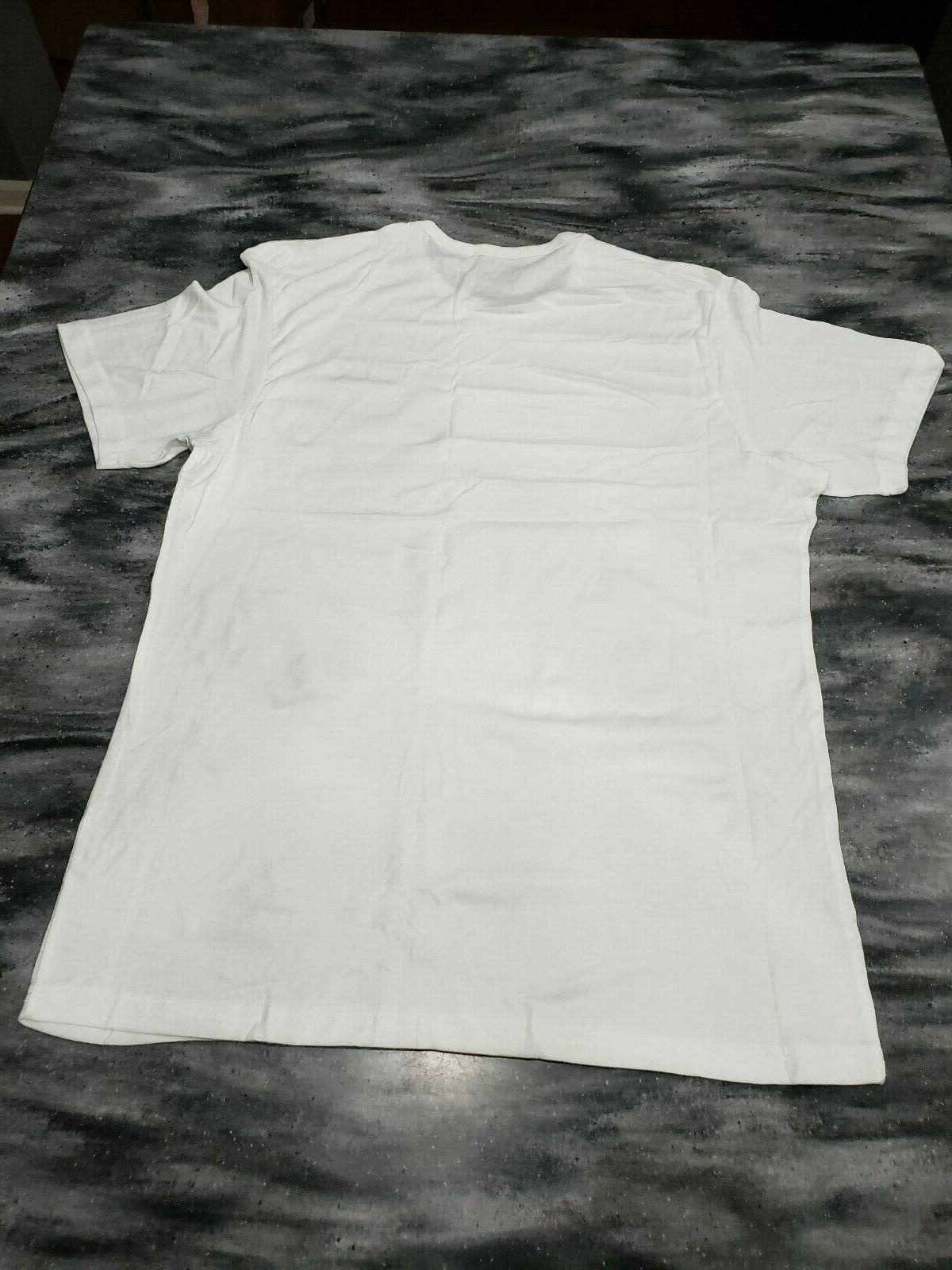 New XL Extra-Large White T-Shirt Tagless