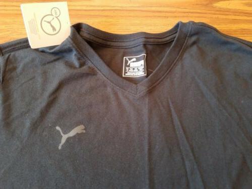 NWT V Tee Black w/Grey Puma Logo Medium