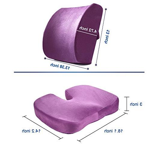 Seat Cushion and Lumbar Support Lower Sciatica Relief Chair and Seat Cushion Set