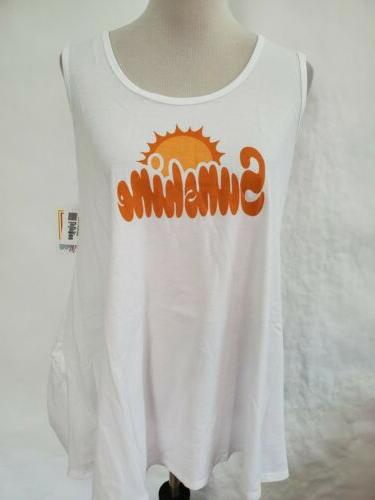 perfect tank top t shirt white orange