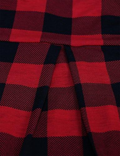 Women,Prime Clothing V Notch Button Slightly Office 2018 3/4 Roll Red