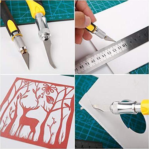 Precision Craft Set Deburring Size Knife and 22PCS Precision Cutting, Hobby, Scrapbooking, Stencil