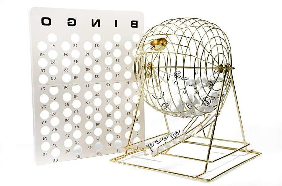 professional bingo brass cage set extra large