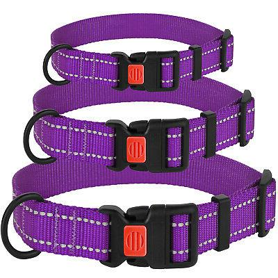 Reflective Set Dog Collars Small