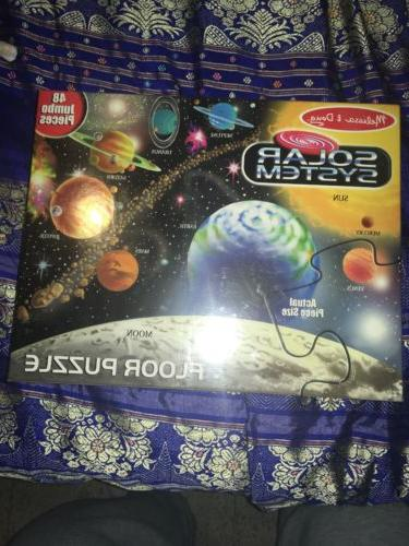 """Solar System"" Extra Large Floor Puzzle 2' x 3' 48 ""Easy Cle"