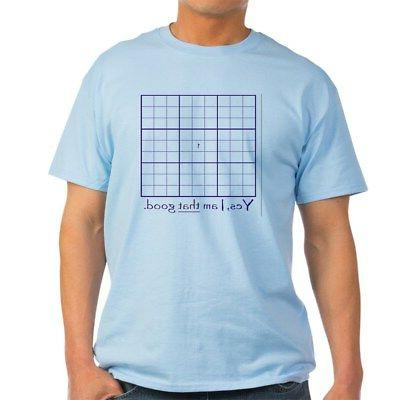 sudoku master light t shirt 100 percent