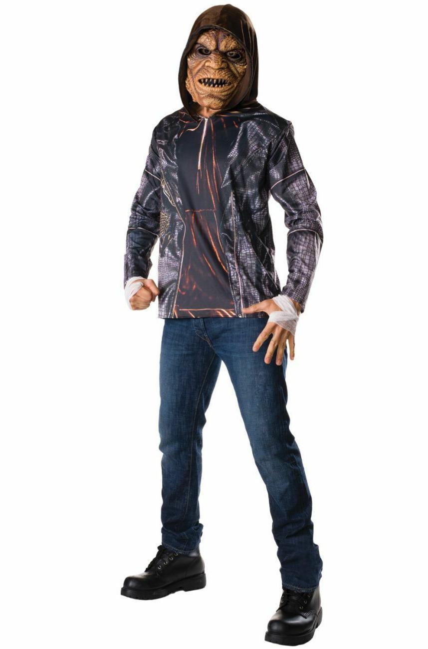 Suicide Squad Killer Croc Adult Costume Kit,w/Mask, FREE SHI