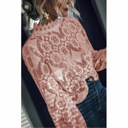 US Women Long Loose Shirts Fashion Tops Shirt