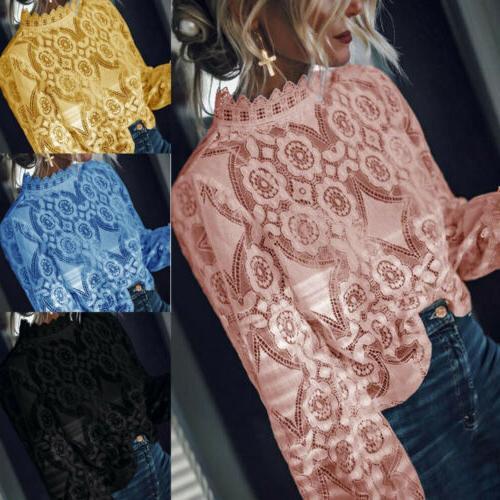 US Women Sleeve Loose Fashion Ladies Tops