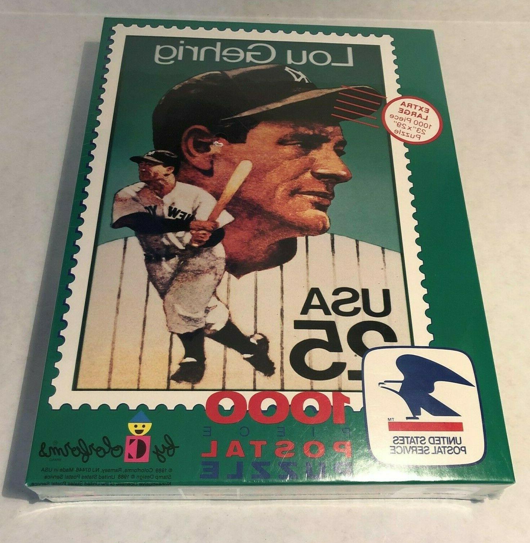 Aasop usps 1000 extra large piece puzzle lou gehrig 1989 stamp colorforms baseball