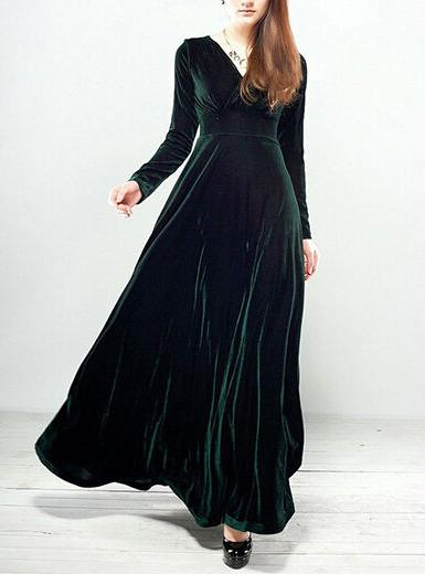velvet evening dress, delivery in about days.