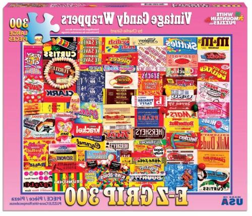 White Puzzles Candy Wrappers 300Piece Jigsaw