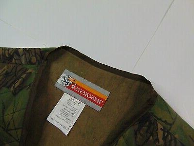 VTG Men Vest Camouflage Full Zip Camo