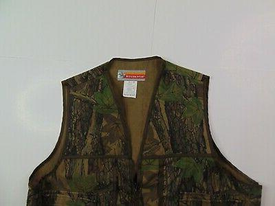 VTG Men XL Vest Hunting Camouflage Zip Camo