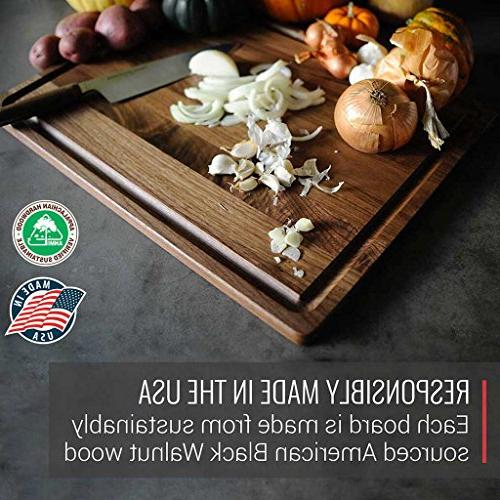 Extra Large Cutting Boys Kitchens - 18x24 American Hardwood Carving Countertop Juice