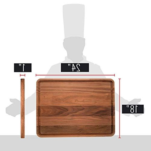Extra Large Walnut Wood Cutting Board Boys Kitchens - American Chopping Carving
