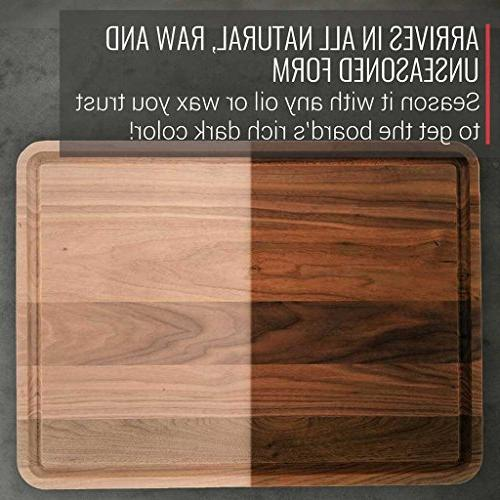 Extra Walnut Cutting Board Virginia Boys - 18x24 American Hardwood and Carving Block with Juice
