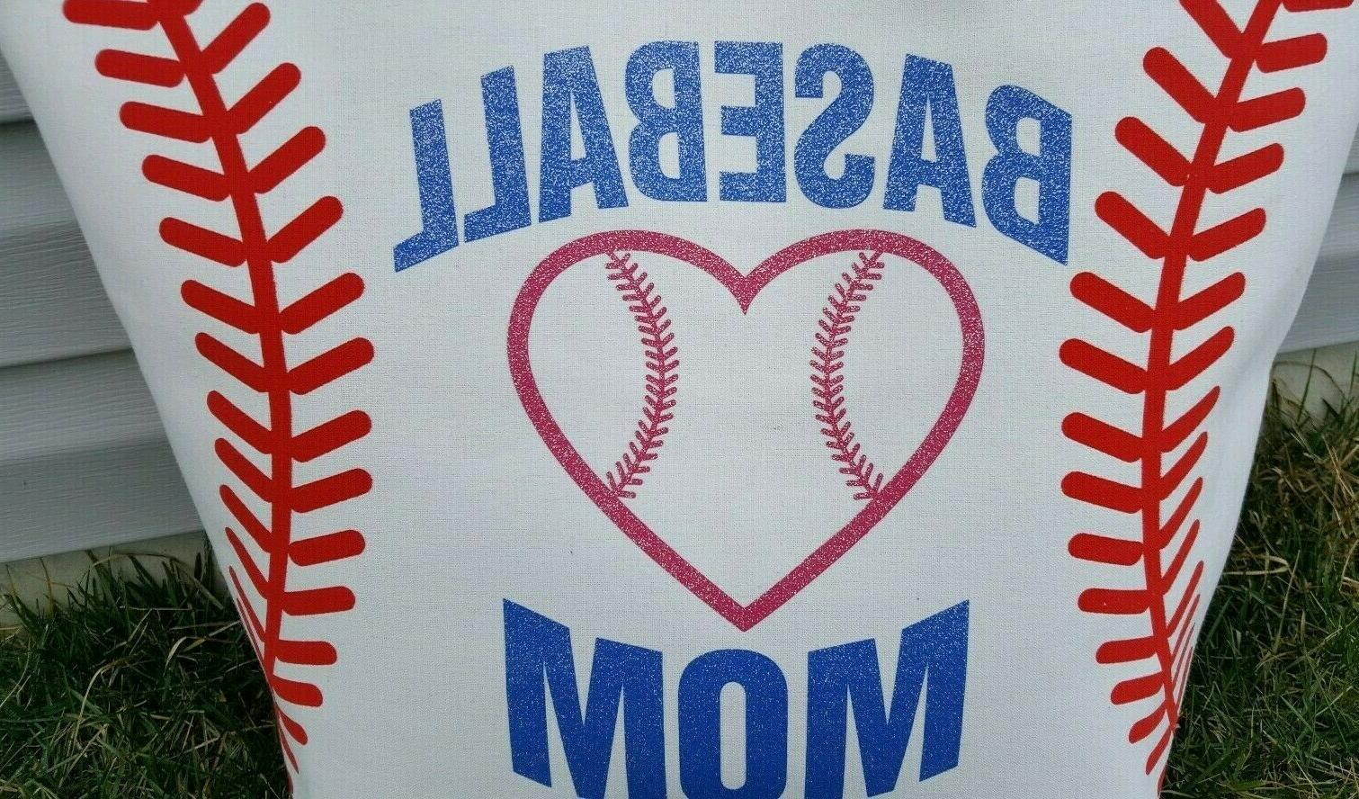 White Baseball Mom - Extra Bag Purse