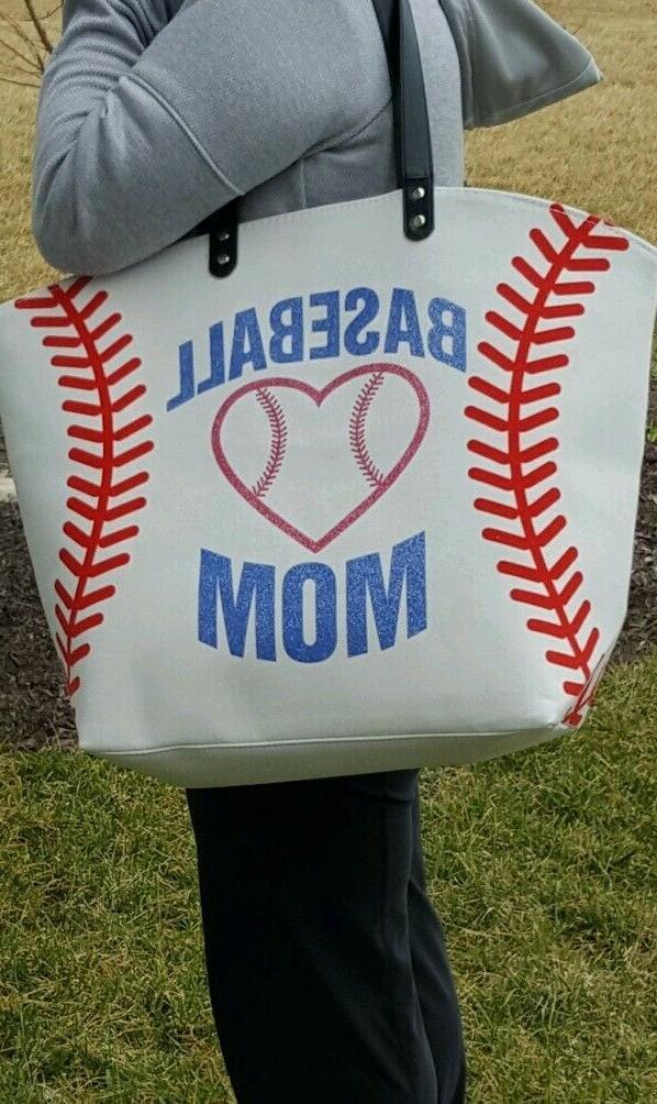 White Baseball Tote Bag-